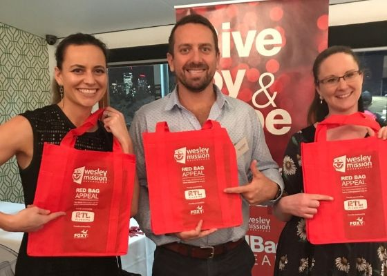 RTL Plumbing proudly supporting Wesley Mission Queensland Red Bag Appeal 2018