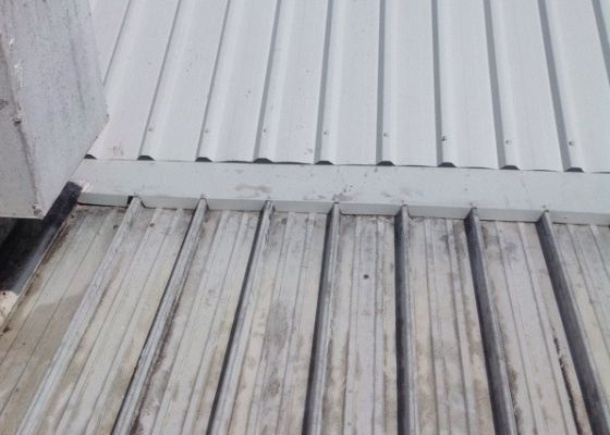 Roof Repair - before and after