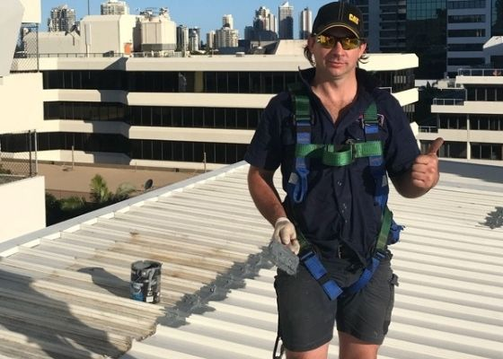 RTL Roof Plumber carrying out roof maintenance