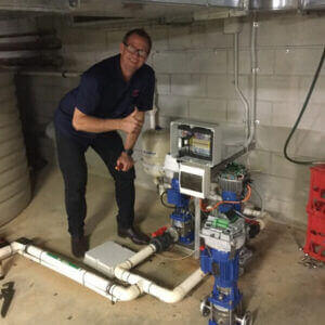 qualified Hawthorne based electrician checking pumps and maintaining house pump system