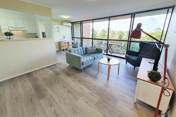 large lounge room in Brisbane after handyman service